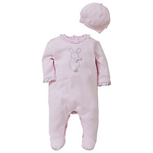 Buy Emile et Rose Baby Dory Floral Trim Sleepsuit Set with Plush Toy, Pink Online at johnlewis.com