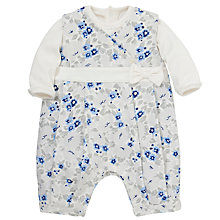 Buy Emile et Rose Delle Floral Print Romper, Blue/Cream Online at johnlewis.com