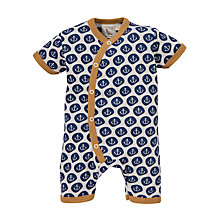 Buy Pigeon Anchor Print Romper, Navy Online at johnlewis.com