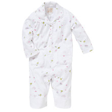 Buy Emile et Rose Baby Damson Garden Print Pyjamas with Plush Toy, White Online at johnlewis.com