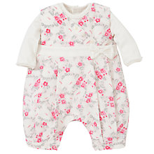 Buy Emile et Rose Delle Floral Print Romper, Blue/Grey Online at johnlewis.com