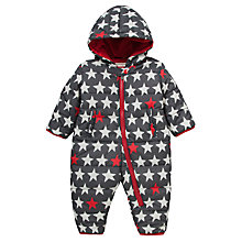 Buy Hatley Padded Star Print Snowsuit, Grey Online at johnlewis.com