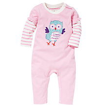 Buy Hatley Baby 2 in 1 Owl Romper, Pink Online at johnlewis.com