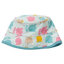 Buy Pigeon Reversible Tulip Print Hat, Blue/Multi Online at johnlewis.com