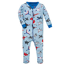 Buy Hatley Baby Planes Print Sleepsuit, Blue Online at johnlewis.com
