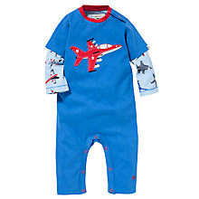 Buy Hatley Baby 2 in 1 Plane Romper, Blue Online at johnlewis.com