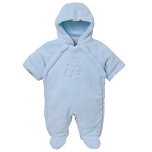 Buy Emile et Rose Baby Dudley Piled Snowsuit, Blue Online at johnlewis.com