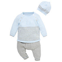 Buy Emile et Rose Baby Dawson Knit Stripe Jumper & Trousers Set, Blue/Grey Online at johnlewis.com