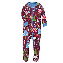 Buy Hatley Woodland Sleepsuit, Red/Multi Online at johnlewis.com