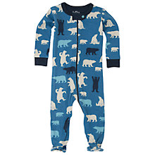 Buy Hatley Baby Bear Print Sleepsuit, Blue Online at johnlewis.com