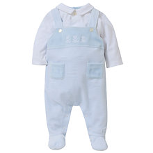 Buy Emile et Rose Baby Denton Teddy Dungarees, Blue Online at johnlewis.com