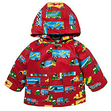 Buy Hatley Big Trucks Print Raincoat, Red/Multi Online at johnlewis.com