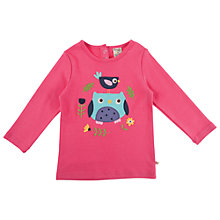 Buy Frugi Childrens' Lottie Applique Top, Pink Online at johnlewis.com