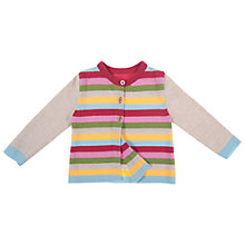 Buy Frugi Girls' Maisie Stripe Cardigan, Multi Online at johnlewis.com