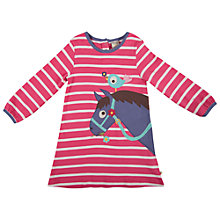 Buy Frugi Girls' Stripe Horse Agnes Dress, Pink/White Online at johnlewis.com