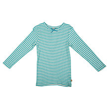 Buy Frugi Girls' Mia Pointelle Top, Blue Online at johnlewis.com