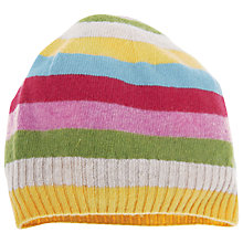 Buy Frugi Girls' Sophie Stripe Hat, Multi Online at johnlewis.com