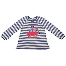 Buy Frugi Girls' Ella Car Stripe Top, Purple Online at johnlewis.com