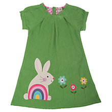 Buy Frugi Girls' Rabbit Chloe Dress, Green Online at johnlewis.com