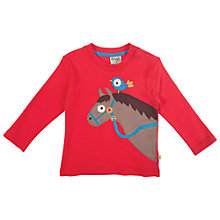 Buy Frugi Baby's Discovery Top, Red Online at johnlewis.com
