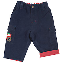 Buy Frugi Corduroy Tractor Combat Trousers, Navy Online at johnlewis.com