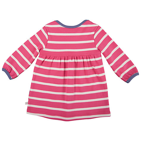Buy Frugi Stripe Freya Pony Dress, Pink Online at johnlewis.com