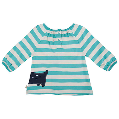 Buy Frugi Ella Stripe Cat Top, Blue/White Online at johnlewis.com