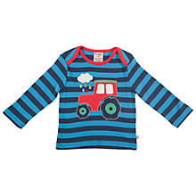 Buy Frugi Boys' Bobby Tractor Top, Blue Online at johnlewis.com