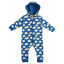 Buy Frugi Baby Rain Shine Hooded Baby Grow, Blue Online at johnlewis.com