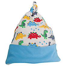 Buy Frugi Baby Dino Print Beanie Hat, Multi Online at johnlewis.com