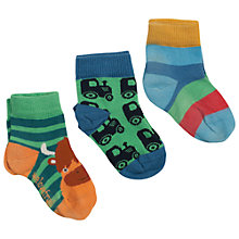 Buy Frugi Cow & Tractor Socks, Pack of 3, Multi Online at johnlewis.com
