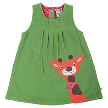 Buy Frugi Baby Alice Corduroy Giraffe Dress, Green Online at johnlewis.com