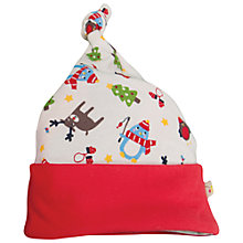 Buy Frugi Baby Knotted Hat, White/Multi Online at johnlewis.com