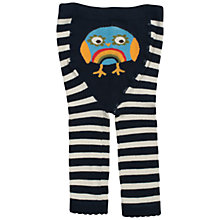 Buy Frugi Baby Rainbow Owl Tights, Black/White Online at johnlewis.com