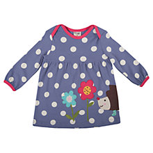 Buy Frugi Baby Spot Hedgehog Freya Dress, Purple Online at johnlewis.com