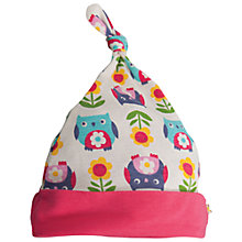 Buy Frugi Baby Owl Print Beanie Hat, Multi Online at johnlewis.com