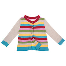 Buy Frugi Maisie Rainbow Merino Blend Cardigan, Multi Online at johnlewis.com