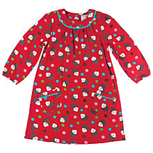 Buy Frugi Baby Hedgehog Bella Dress, Red Online at johnlewis.com