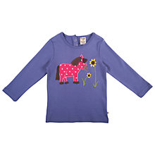 Buy Frugi Girls' Lottie Horse Applique Top, Purple Online at johnlewis.com