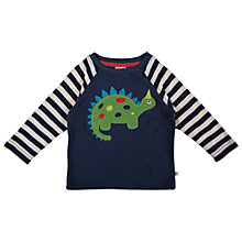 Buy Frugi Boys' Henry Dino Top, Navy Online at johnlewis.com