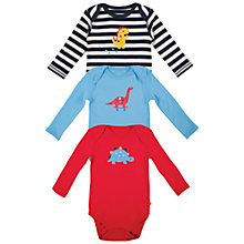 Buy Frugi Baby's Special Bodysuit, Pack of 3, Multi Online at johnlewis.com