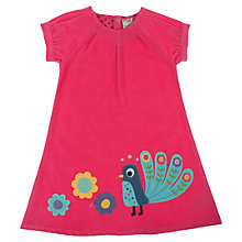 Buy Frugi Girls' Chloe Peacock Dress, Pink Online at johnlewis.com