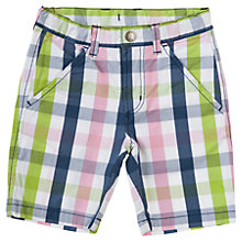 Buy Polarn O. Pyret Baby Multi-Check Shorts, White/Multi Online at johnlewis.com