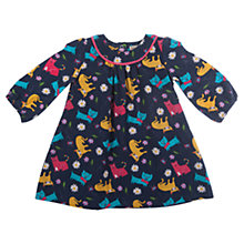 Buy Frugi Baby's Isla Cat Corduroy Dress, Navy/Multi Online at johnlewis.com