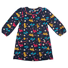 Buy Frugi Girls' Isa Cat Dress, Blue/Multi Online at johnlewis.com