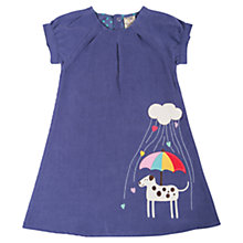 Buy Frugi Girls' Doggie Chloe Dress, Blue Online at johnlewis.com