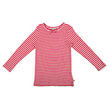 Buy Frugi Baby's Mia Pointelle Stripe Top, Pink Online at johnlewis.com