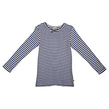 Buy Frugi Girls' Mia Pointelle Top, Purple Online at johnlewis.com