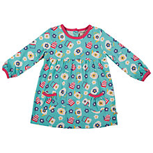 Buy Frugi Maddie Tea Print Jersey Dress, Blue Online at johnlewis.com