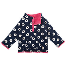 Buy Frugi Girls' Navy and Pink Reversible Fleece, Navy/Pink Online at johnlewis.com